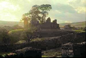 The dramatic ruin of Pendragon Castle