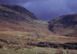 Hardknott Pass from Fort