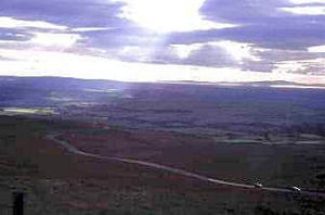 View from Hartside to the Solway Firth and Scotland