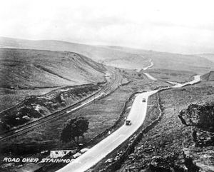 View over the Stainmore moors in the early days of the motor car. Photo courtesy of Mark Keefe Collection
