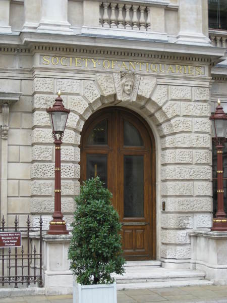 The entrance to the premises of The Society of Antiquaries of London.