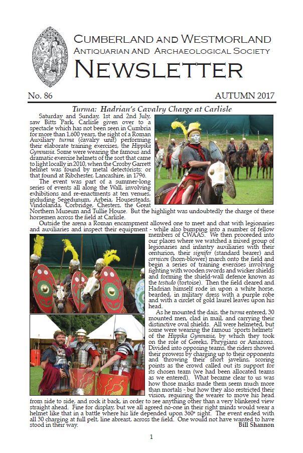 Newsletter 86 Autumn 2017